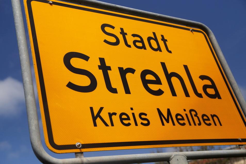 Symbolfoto Ortseingang Strehla.