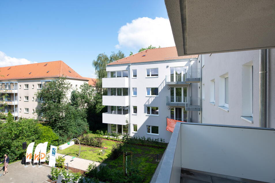 An der Dresdner Ulmenstraße wurden 2020 die ersten städtischen Sozialwohnungen fertiggestellt.