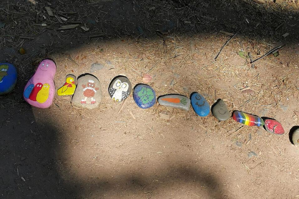 Auch Pittiplatsch und Schnatterinchen sind in der Steinschlange zu finden.