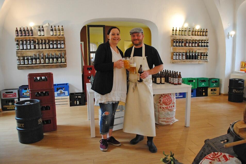 """Ähnlich wie hier könnte ein kleines Geschäft in den """"Zwei Linden"""" aussehen, in dem Produkte regionaler Hersteller verkauft werden, darunter Biere aus der """"Bierblume"""" von Diana Klaus-Metzner und Alexander Klaus."""