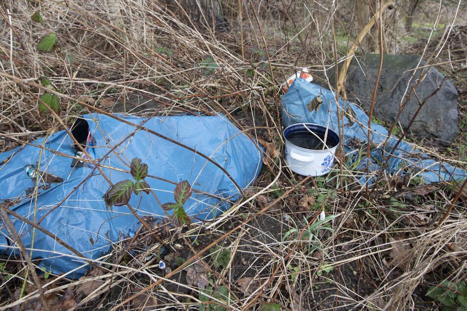 Leider ein tägliches Bild im Kamenzer Forst. Auch wenn Spaziergänger und Naturfreunde schon viel dagegen tun - es wird noch genügend übrig bleiben für den 1. Kamenzer Frühjahrsputz am 21. März. Foto: René Plaul