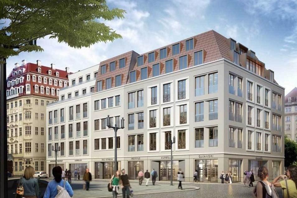 So sehen die Pläne für das moderne Haus aus, das direkt neben dem Kulturpalast gebaut werden soll.