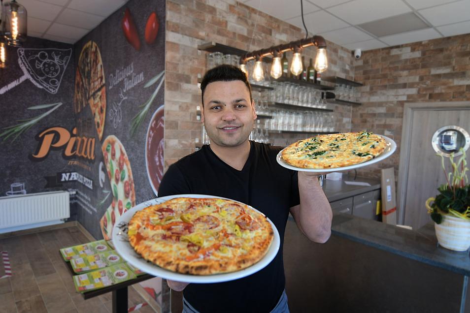 Lecker Pizza aus dem neuen Lokal: Vinod Kumar ist mit der Pizzeria Franko umgezogen. Das Essen gibt es derzeit aber nur außer Haus.