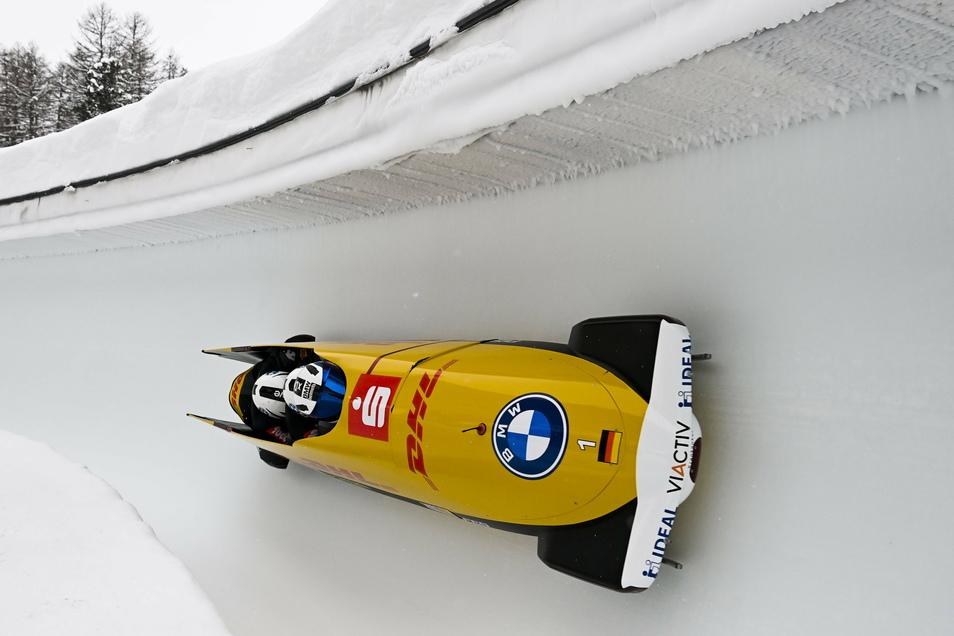 Drei Sekunden ist Friedrichs Vierer, in dem diesmal Thorsten Margis, Martin Grothkopp und Alexander Schüller sitzen, schneller als im Training.