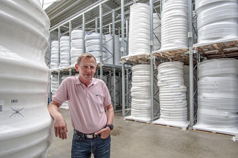 Geschäftsführer Adnreas Seibel ist zufrieden mit der Entwicklung der DRS Rohrwerke.