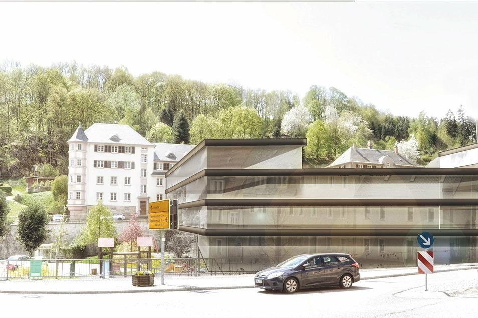 So könnte der Neubau an der Festwiese in Glashütte aussehen.