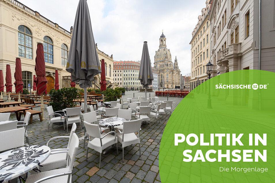Freisitze könnten in Sachsen dank sinkender Infektionszahlen nicht mehr lange verwaist bleiben.