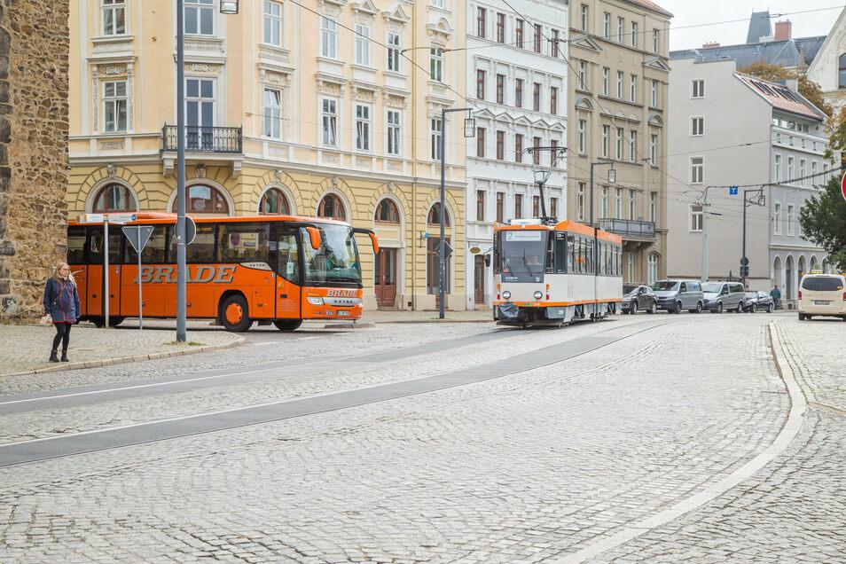 Soll einen Fußgängerüberweg bekommen: der Platz des 17. Juni in Görlitz.