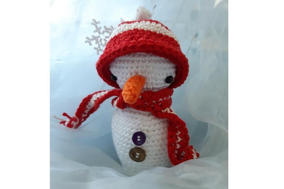 Der Hit: Schneemann mit Mütze.