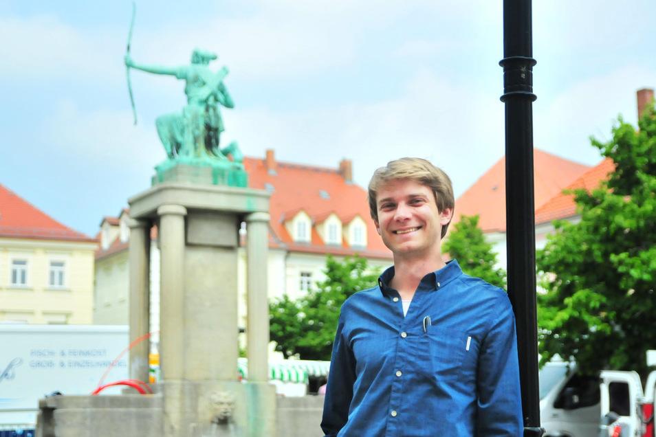 Citymanager Alexander Ehrke will die Großenhainer Innenstadt attraktiver machen.