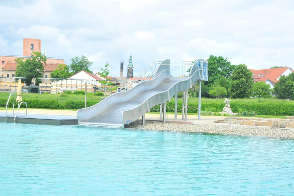 In letzter Minute ist nun auch die Nutzung der Wasserrutsche im Großenhainer Naturerlebnisbad genehmigt worden - wenngleich natürlich unter Auflagen.