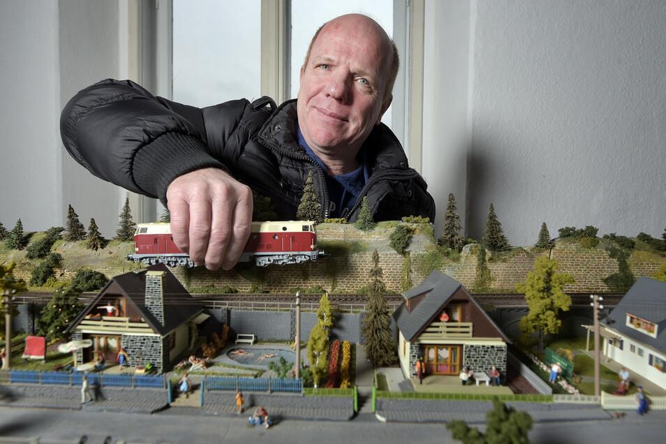 Große und kleine Bahnen sind die Leidenschaft von Andreas Hoffmann und seinen Mitstreitern.