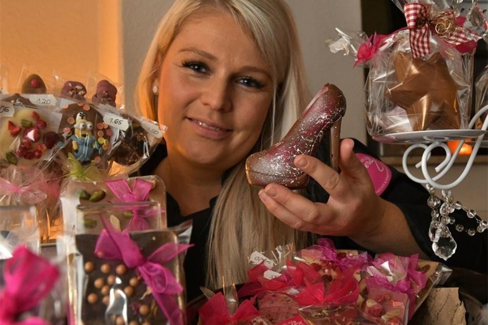 Das DRK-Mehrgenerationenhaus hatte Sarah Gierig, Sachsens einzige Schokoladensommeliere engagiert.