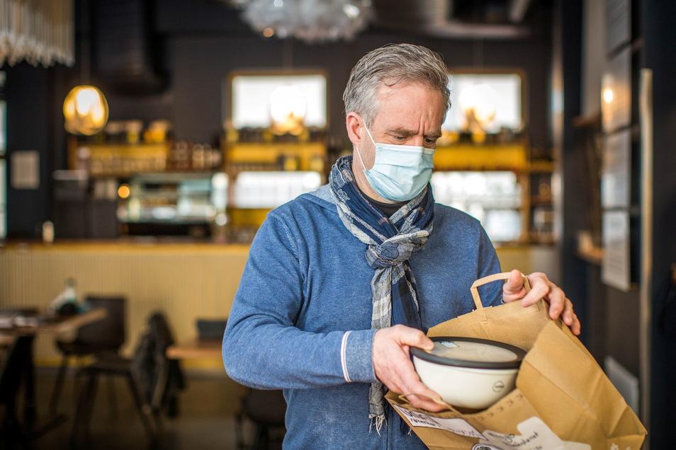Umaii-Chef Peter Herden: bis 2022 ohne Verpackungsmüll liefern lassen oder abholen.
