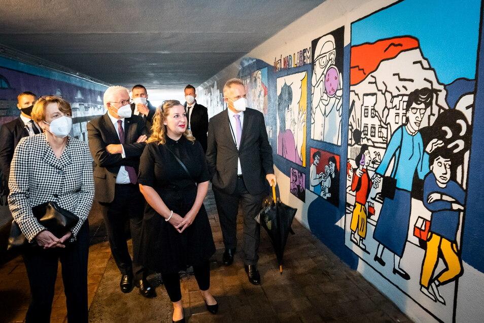 Für das große Wandbild in Erinnerung an die Jüdin Ruth Hálová interessierte sich sogar Bundespräsident Frank-Walter Steinmeier.