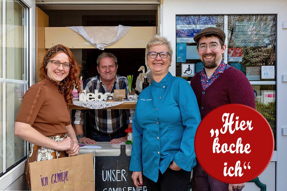 Familie Walther hält die Rosenschänke in Kreischa am Laufen und verkauft nun Gerichte zum Mitnehmen.