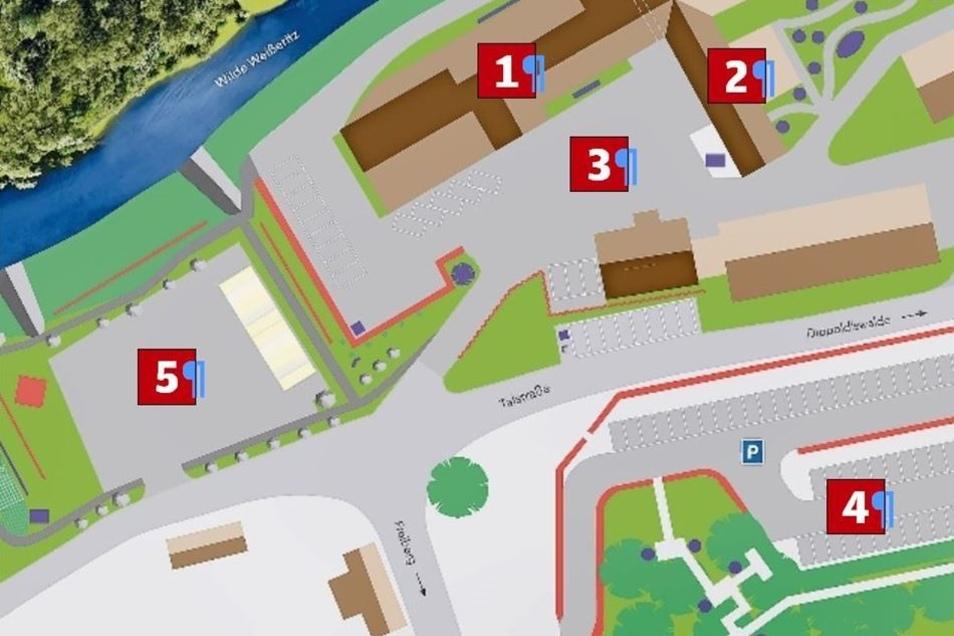 Auf 20000 Quadratmeter Fläche erstrecken sich die aktuellen Pläne für das Besucherzentrum an der Talstraße in Dorfhain.