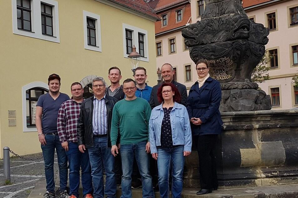 Hier war offenbar noch alles in Ordnung: Das Kandidatenfoto der Freien Bürger Zittaus vor der Wahl mit dem bisherigen Vorsitzenden Thorsten Walkstein.