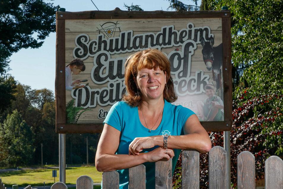 Daniela Günther, die Leiterin des Schullandheimes Eurohof Hainewalde hofft, dass jetzt wieder Klassenfahrten gebucht werden.