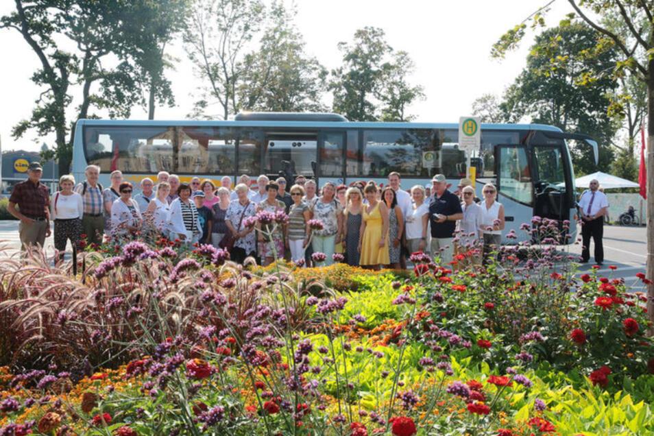 """Die Kamenzer Exkursionsteilnehmer waren von der Blütenpracht an vielen Orten in Frankenberg begeistert. Viele Anregungen habe man bekommen, so Horst Stoklas. """"Das ist aber kein Hexenwerk, das wir nicht auch in Kamenz bewältigen könnten."""""""
