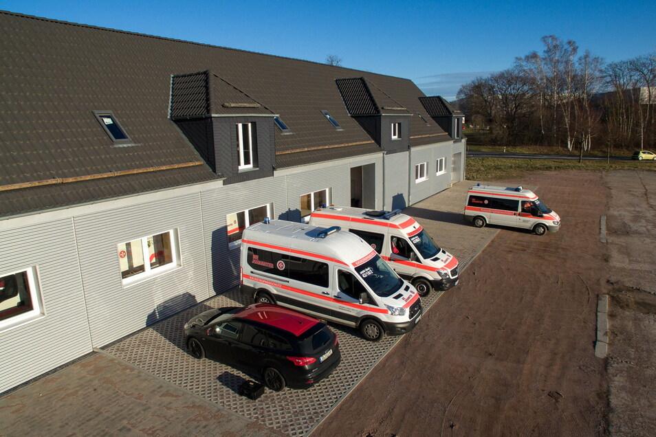 Im Außengelände des Johanniter-Standortes in Leisnig hat sich vor allem die Zuwegung für die Fahrzeuge verbessert.