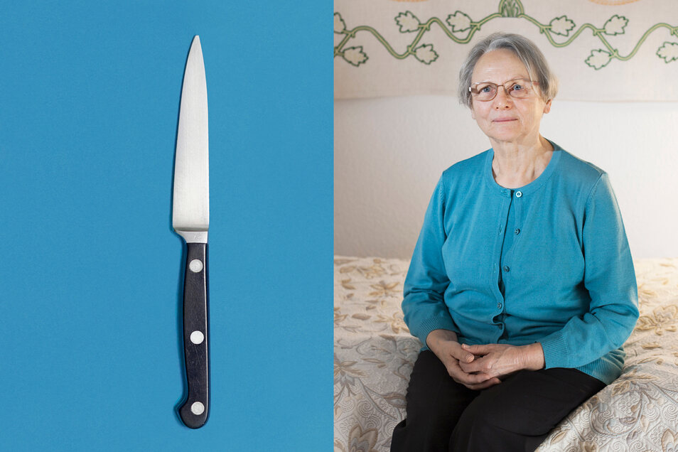 Küchenmesser: Franziska Pfütze, 76, Cottbus, Brandenburg, Rentnerin, zum Zeitpunkt des Mauerfalls Buchhalterin.