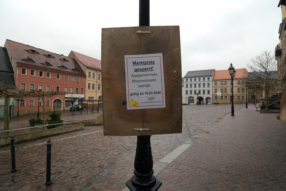 Roßwein hat am Donnerstag den Markt gesperrt.