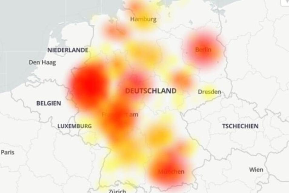 Auch die Telekom meldet seit Dienstagmorgen großflächige Störungen. (Stand: 12.02.20/9:03 Uhr)