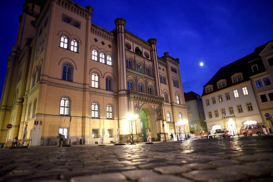 Blick auf das Zittauer Rathaus.