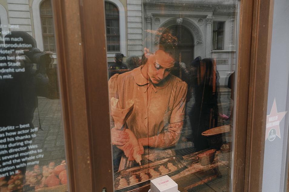 """Die irische Schauspielerin Saoirse Ronan in """"The Grand Budapest Hotel"""". Vier Oscars holte der Film, der 2013 in Görlitz gedreht wurde."""