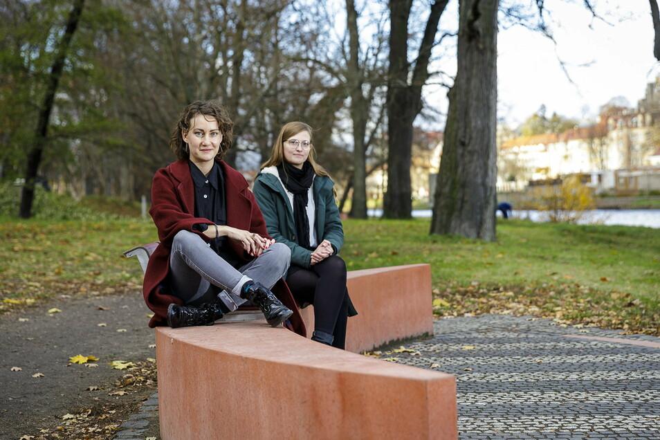 Die Schauspielerinnen Constanze Rückert und Britta Werksnis nutzen den Lockdown für ein Studium in Görlitz.