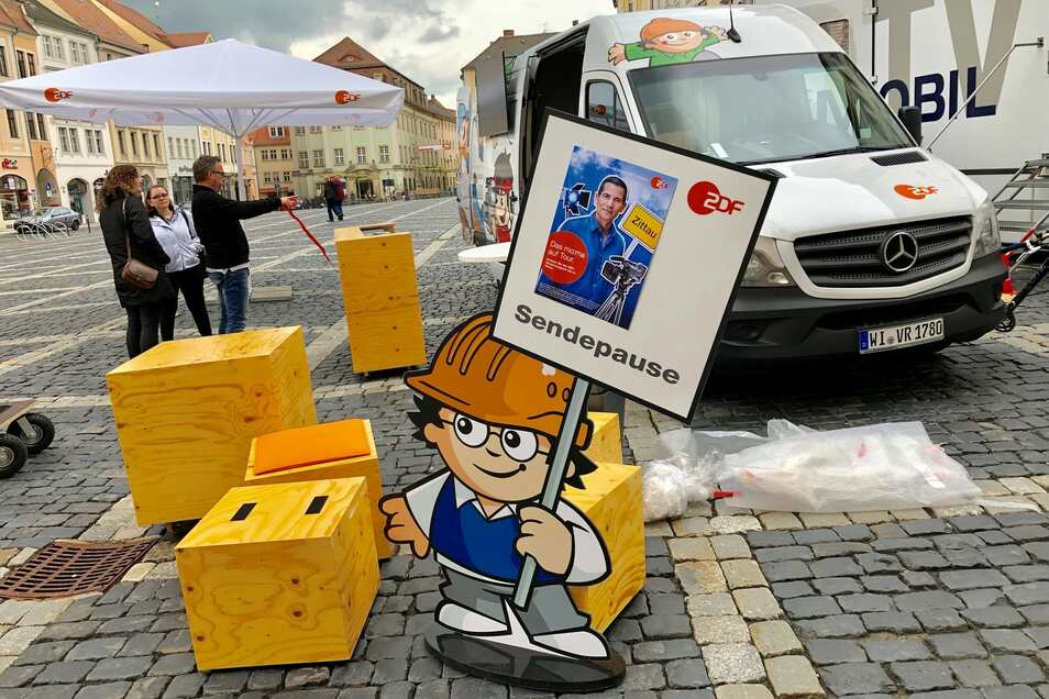 Noch herrscht Sendepause. Aber am Freitag wird ZDF-Moderator Mitri Sirin das Morgenmagazin live vom Zittauer Marktplatz moderieren. Frühaufsteher sind herzlich eingeladen.