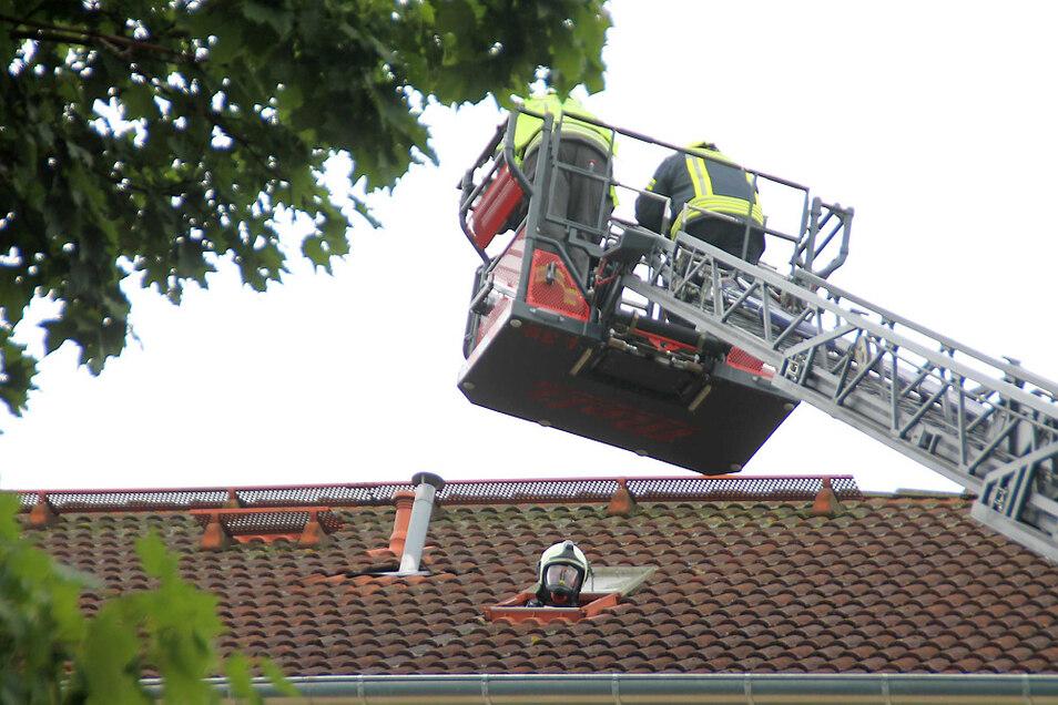 Die Feuerwehr war auf dem Dachboden im Einsatz.