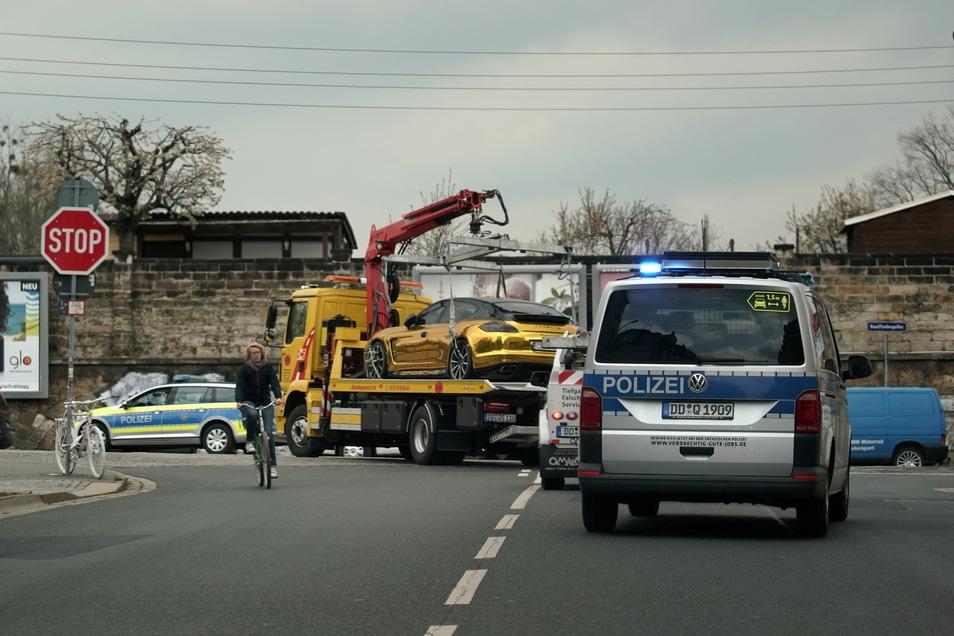Dann ging die Fahrt zum Polizeigelände an der Stauffenbergalle, hier sind sie schon kurz vor dem Ziel.