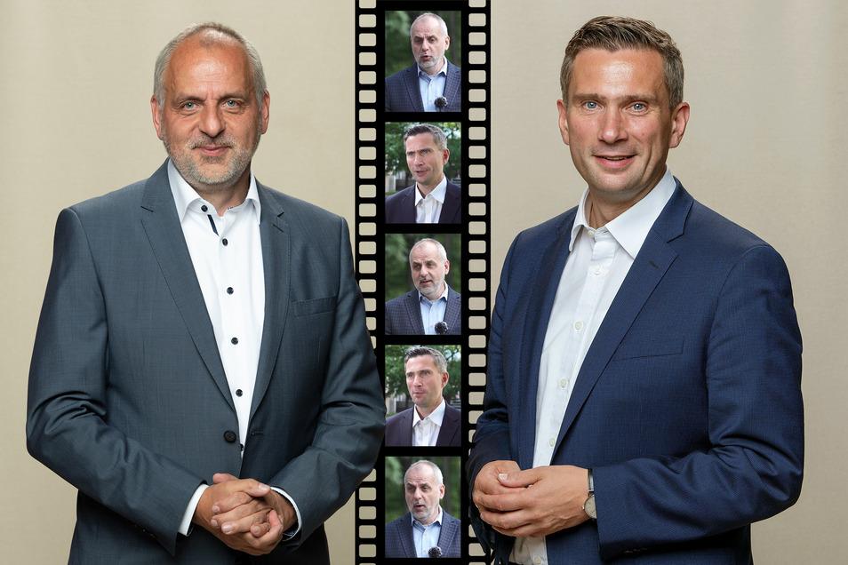 Linken-Spitzenkandidat Rico Gebhardt und Wirtschaftsminister Martin Dulig (SPD) im Interview.