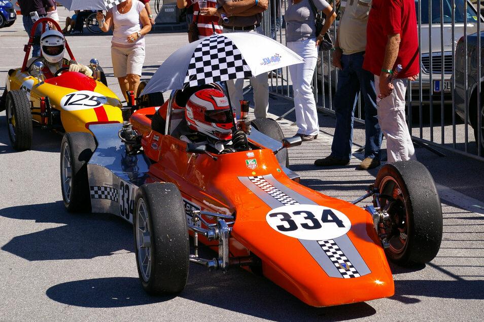 """Ingolf Sieber fuhr mit dem 45 Jahre alten Monoposto seit 2011 Rennen in der """"Formel V""""."""
