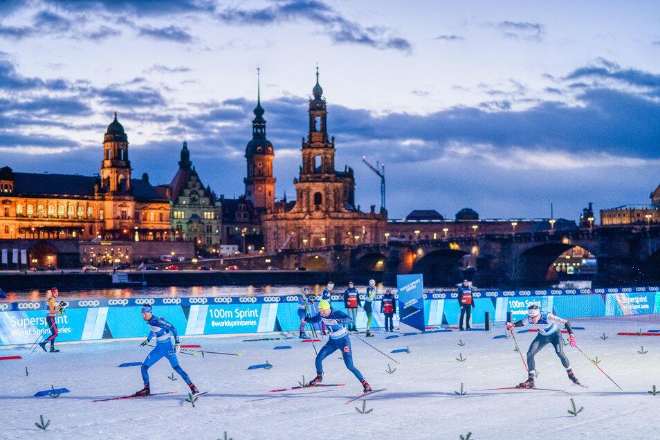 Der Dresdner Skiweltcup sorgt jedes Jahr für Aufsehen - und soll es auch dieses Mal tun.