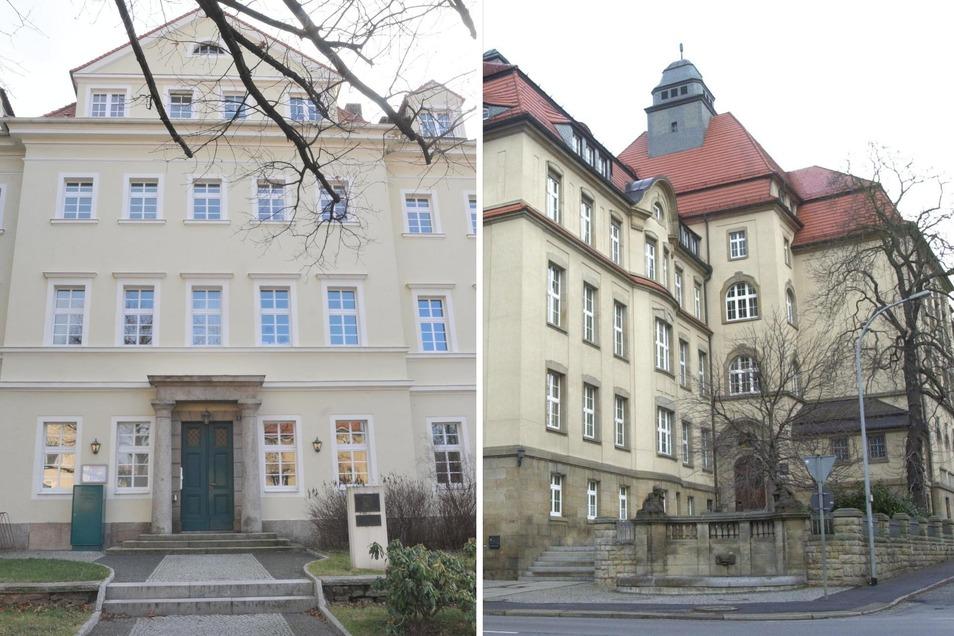 Das Amtsgericht Löbau (links) ist seit 2013 nicht mehr eigenständig, sondern Zweigstelle von Zittau.