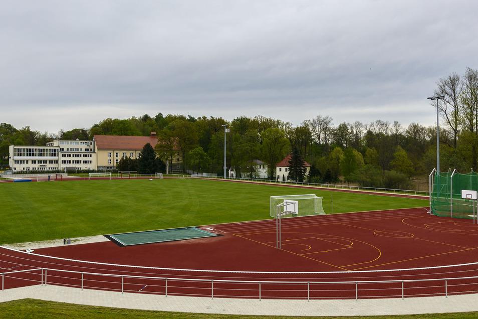 Im Wesenitzsportpark wird aufgeräumt - am 27. Juli.