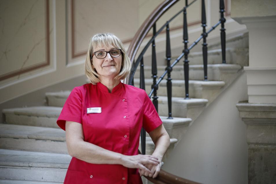 Die Altenpflegerin Manuela Schab wurde jetzt ausgezeichnet, weil sie eine Doppelbelastung gut gemeistert hat.