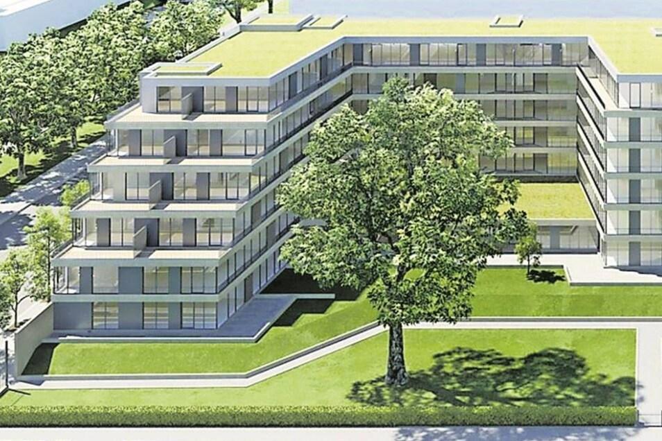 """Residenz am Zwinger Die Prager Firma CTR und die Baywobau Dresden beginnen in Kürze mit dem Bau von etwa 190 Wohnungen. """"Residenz am Zwinger"""" heißt das Projekt an der Hertha-Lindner-Straße."""
