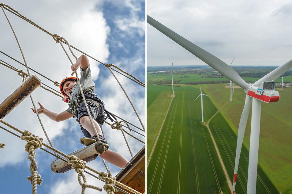 Das Klettern in Hochseilgärten ist sehr beliebt. Wenn es nach Studenten der TU Dresden geht, könnte dies auch an Windrädern möglich sein.