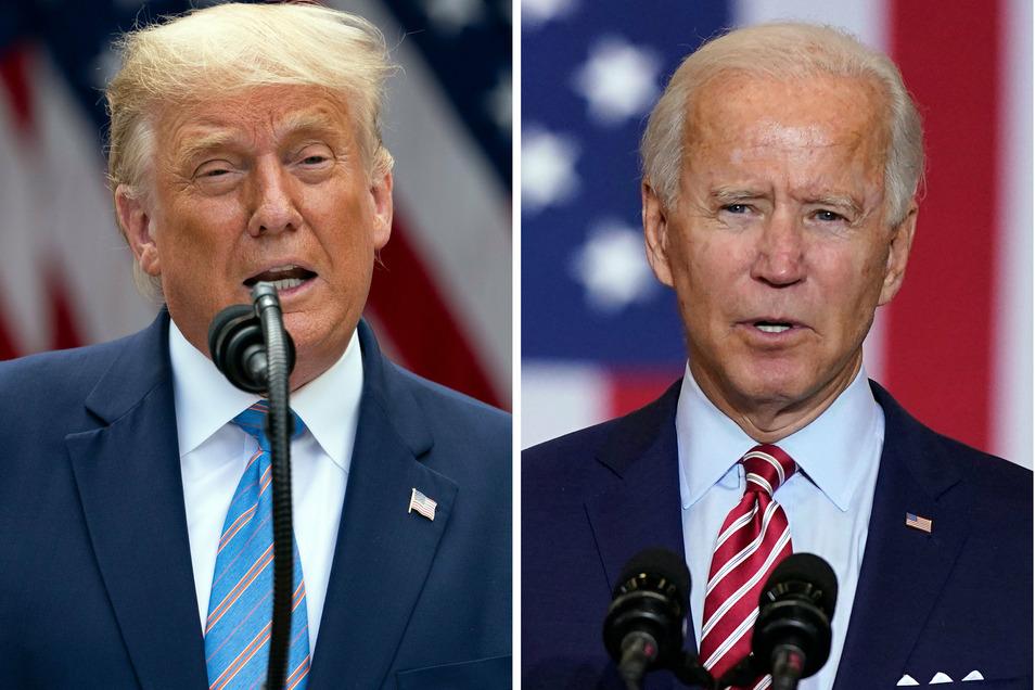 Wer wird US-Präsident? Bei der Wahl am 3. November 2020 treten der aktuelle Präsident Donald Trump und sein Herausforderer Joe Biden (rechts) gegeneinander an.