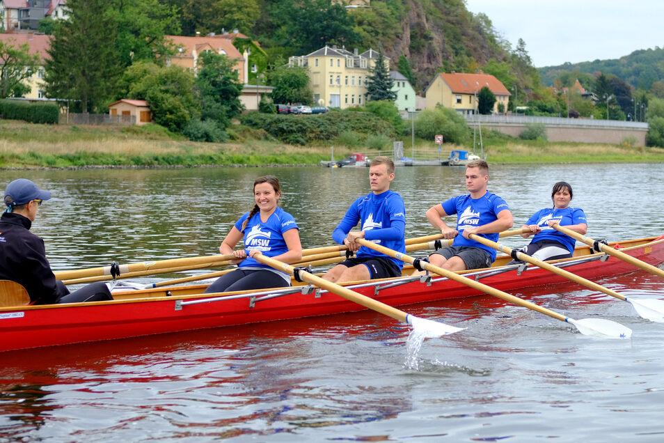 Jedes Team startete mindestens zwei Mal auf der etwa 600 Meter lange Strecke - auch das Team der Meißner Stadtwerke.