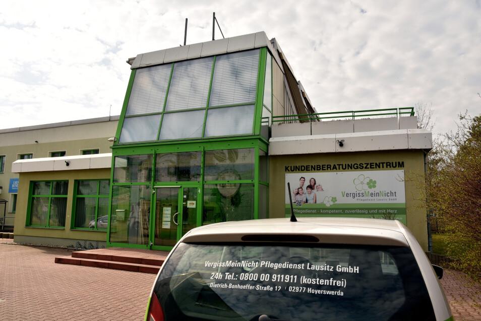 """Vom Firmensitz in der Dietrich-Bonhoeffer-Straße aus starten die Mitarbeiterinnen des Pflegedienstes """"VergissMeinNicht"""" zu ihren Kunden."""