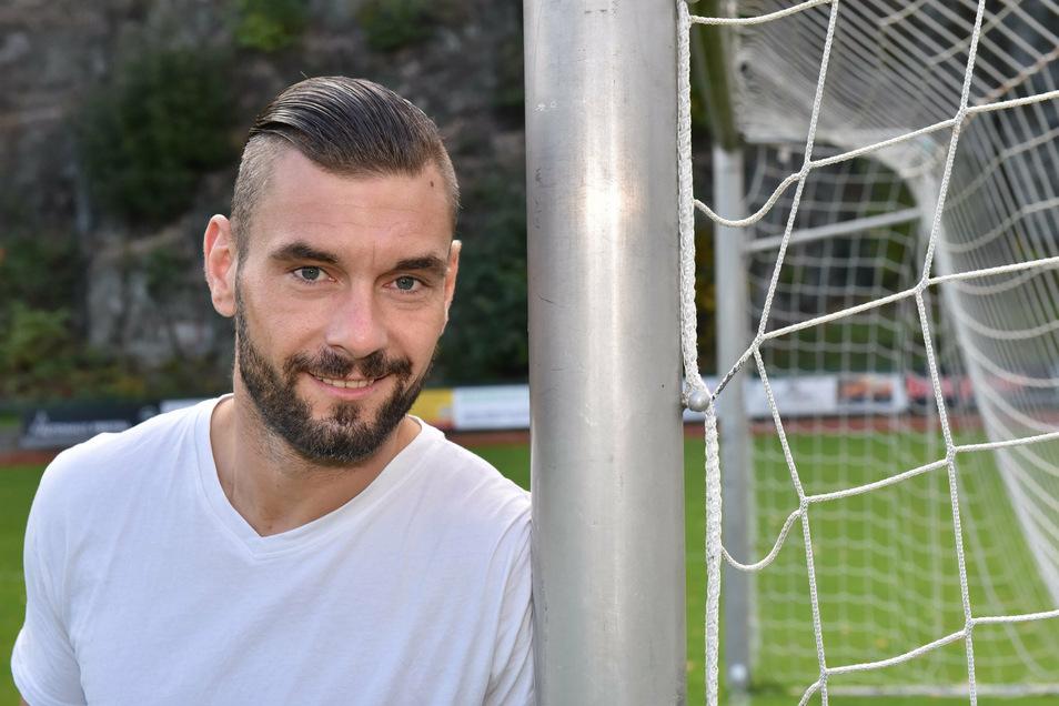 Auch dank ihm hat Stahl Freital erst zwei Landesliga-Gegentore zugelassen: Torwart Steffen Beer.