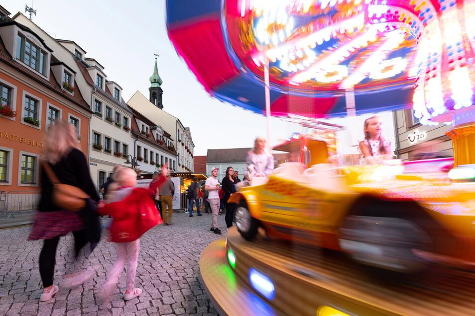 Die Jüngsten kamen beim Stadtfest ebenfalls auf ihre Kosten, für sie war unter anderem ein Karussell in Betrieb.