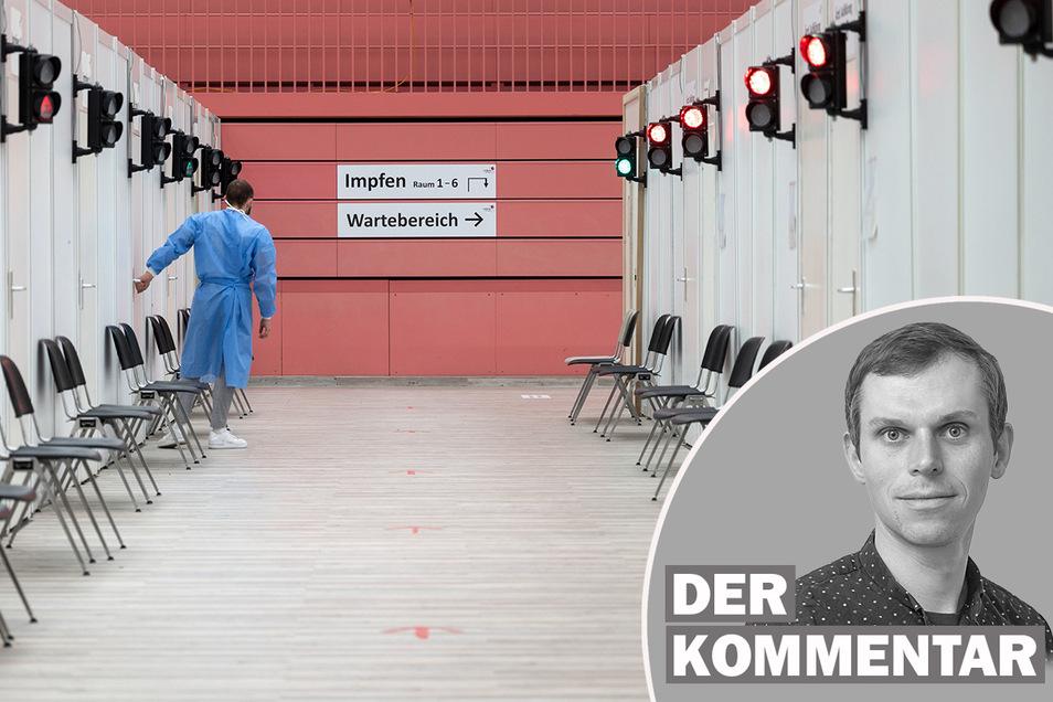 In Sachsens Impfzentren ist nicht mehr viel los.
