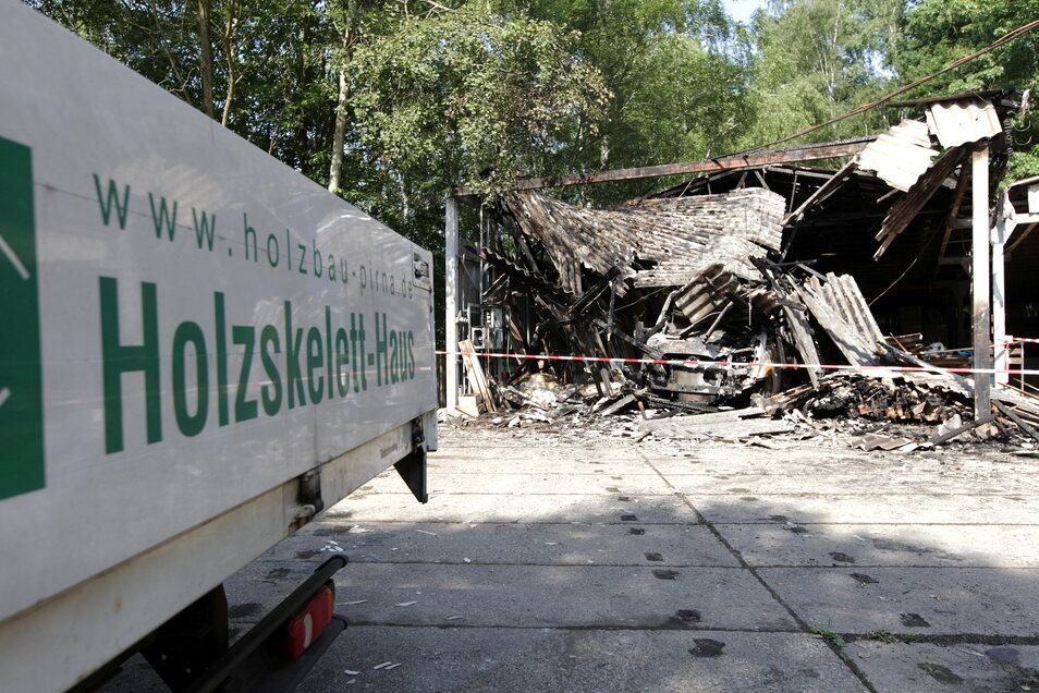 Fast 100.000 Euro Sachschaden ist das Fazit eines Brandes in der Lohmener Herrenleithe.