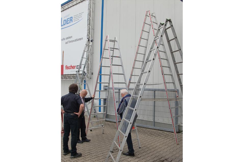 Auch Leitern und Gerüste müssen regelmäßig geprüft werden.
